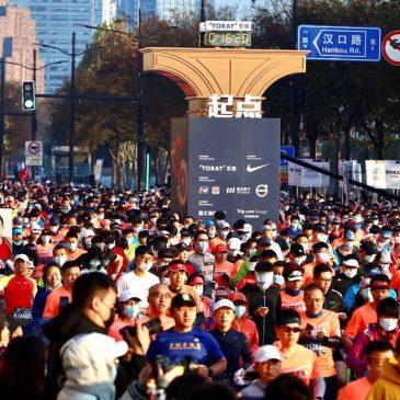 9.000 corredores desafiam o coronavírus em Xangai